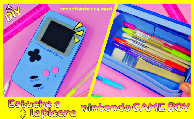 estuche de foami game boy